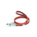 Color & Gray Super-Grip Julius K9 Leash with Handle & Carabiner Clip - Red, 2 M / 6.56 Ft With Ring, 20 Mm / 0.79 In