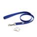 Color & Gray Super-Grip Julius K9 Leash with Handle & Carabiner Clip - Blue, 1 M / 3.3 Ft, 20 Mm / 0.79 In