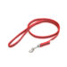 Color & Gray Super-Grip Julius K9 Leash with Handle & Carabiner Clip - Red, 1,2 M / 3.9 Ft, 14 Mm / 0.55 In