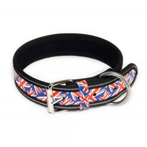 british flag dog collar