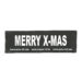 Julius-K9 Harness Patches - MERRY X MAS, Large