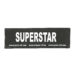 Julius-K9 Harness Patches - SUPERSTAR, Small