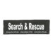 Julius-K9 Harness Patches - SEARCH & RESCUE, Large