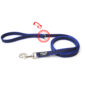 Color & Gray Super-Grip Julius K9 Leash with Handle & Carabiner Clip - Blue, 2 M / 6.56 Ft With Ring, 20 Mm / 0.79 In