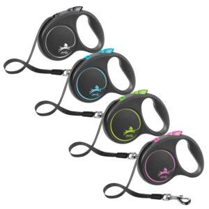 Flexi-Black-Design-Tape-Retractable-Dog-Leash-Black-Blue-Green-Pink