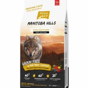 Grain-Free Hypoallergenic Dog Food Natura Wild Manitoba Hills - 2 Kg