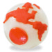 Planet Dog Orbee-Tuff Orbee Ball - Glow and Orange, Medium