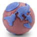 Planet Dog Orbee-Tuff Orbee Ball - Pink and Blue, Large